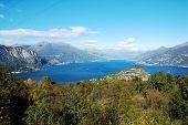 Постер, плакат: Вид побережье озеро Комо Италия