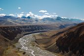 pic of manali-leh road  - Himalayan scenic along the Leh - JPG