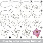 Постер, плакат: Drawing Tutorial For Preschool Children