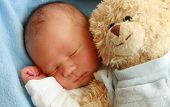 pic of newborn baby girl  - dreaming newborn baby  - JPG
