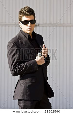 Alertness secret agent ready for action