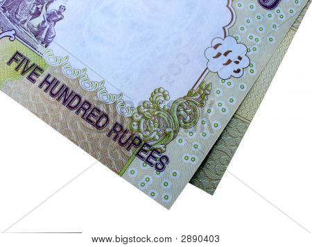 Indian Currency-Inr 500-On White