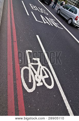 Bicycle and bus reserved trails