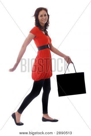 Girl Holding A Shopping Bag
