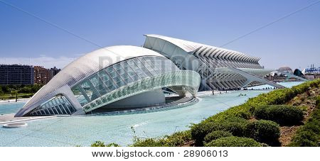 City of arts and sciences in Valence, Spain.