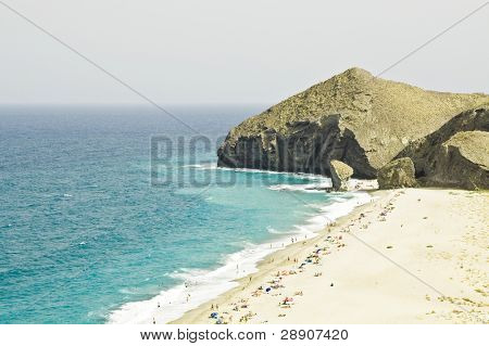 One of the virgin beaches in Cabo de Gata National Park, Spain.