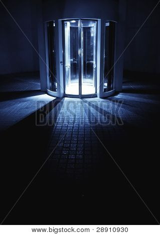 Mysterious elevator to unknown place.