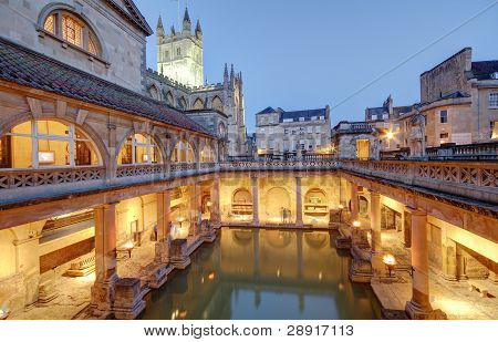 Ancient roman spa at bath