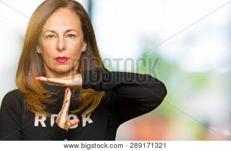 Beautiful middle age woman wearing