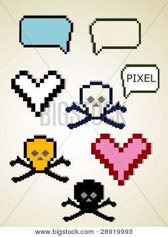 cute graphic pixel elements