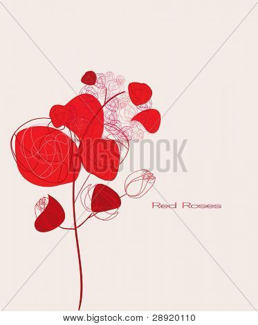Stylized red roses