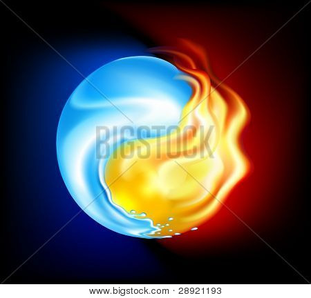 Yin-yang from water and fire