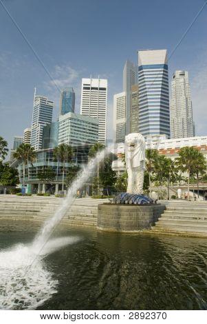 Fountain And Modern Ciyscape