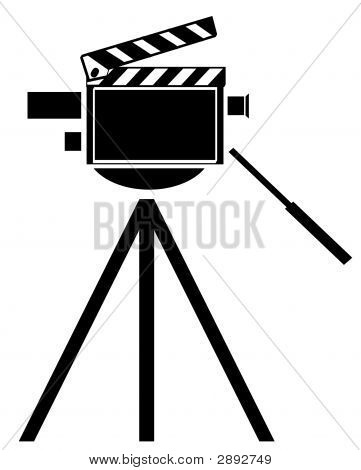 Movie Camera W Clapboard