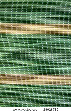 Green and yellow lines background, green mat