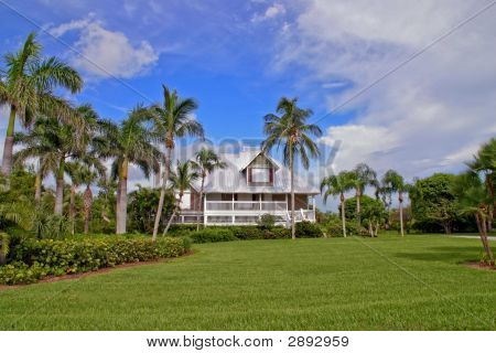 Home In Tropical Paradise With Hdr Lighting
