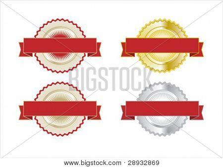 Vector illustration of guarantee, warranty, award badges