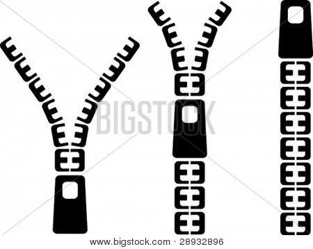 Vector illustration of a designer zip