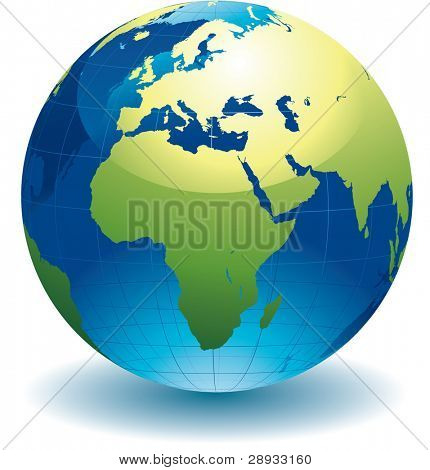 World globe - editable vector illustration