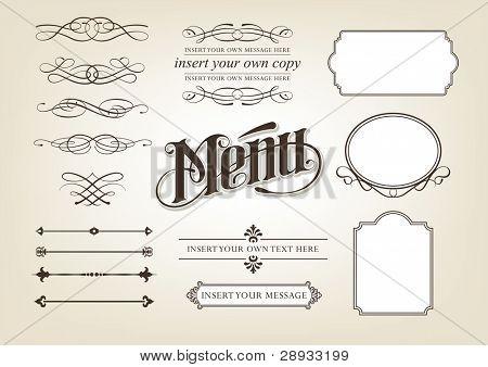 Calligraphy Menu Set