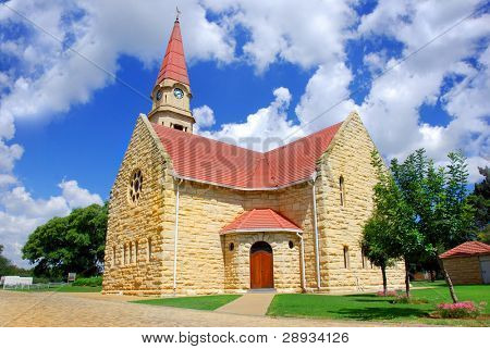 old church with sky background