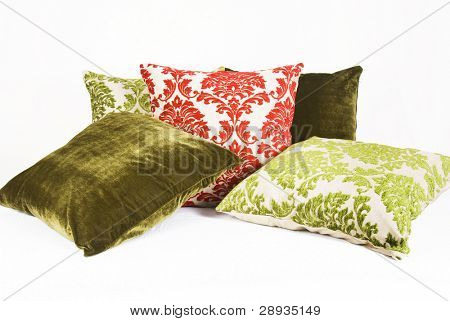 Red and green cushions