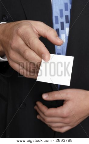 Business Card, Man In Suit