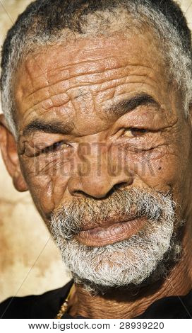 An old African man