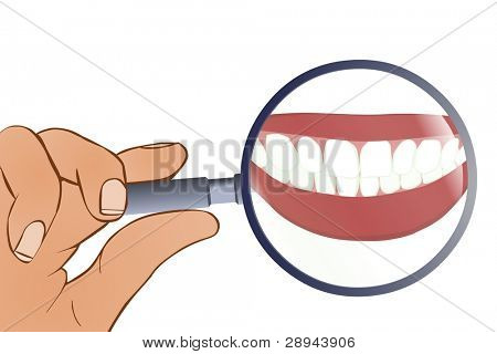 Tooth Under Magnifying Glass