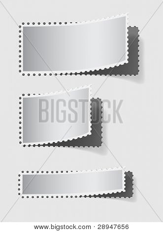 Blank silver stickers