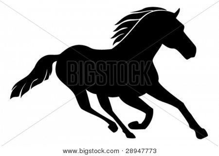 Vector illustration of a running horse