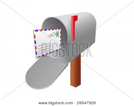 Mailbox with an incoming letter