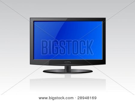Vector illustration of a flat screen