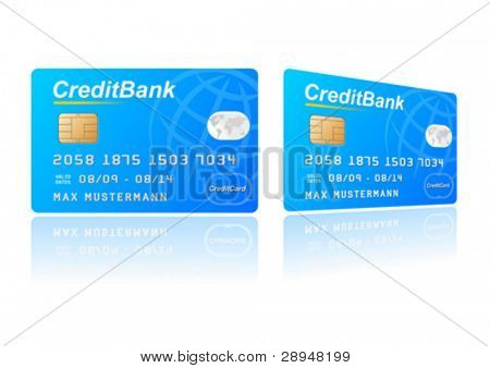 Vector illustration of a credit card