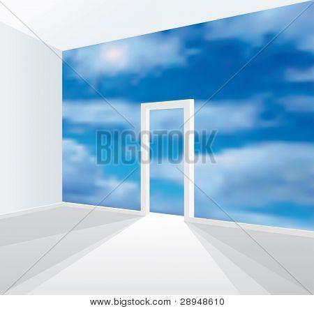 Vektor-Illustration des Raumes ohne Wand