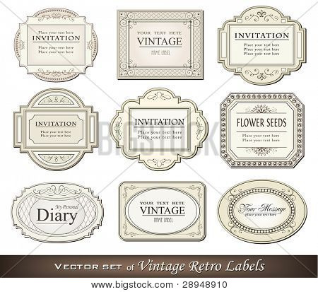 Vector illustration of vintage retro labels