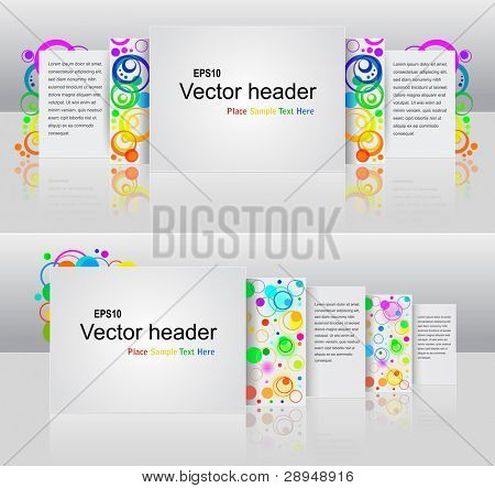 Vector illustration of abstract headers