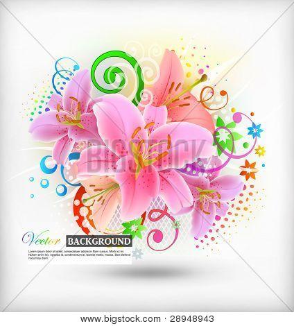 Vector illustration of floral background (eps10)