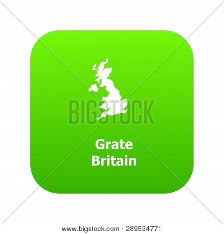 England Map Icon Simple Illustration