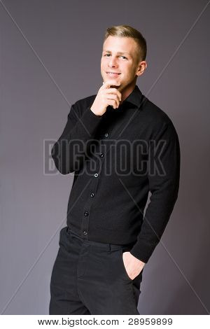 Friendly Cheerful Young Businessman.