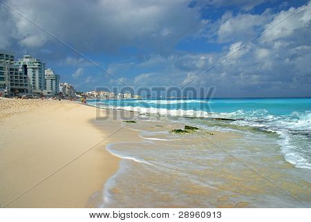 Beach In Cancun, Mexico