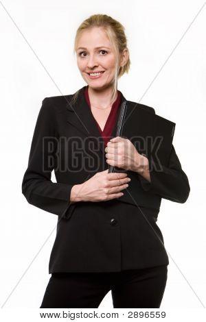 blond Business-Frau