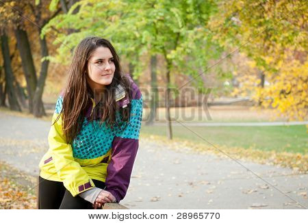 Fall Portrait Of Young Woman