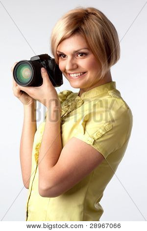 Girl-photographer