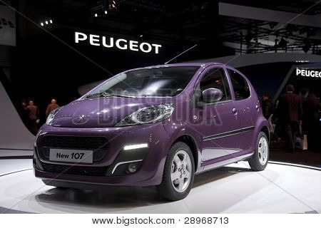 Brussels, Auto Motor Expo  Peugeot 107