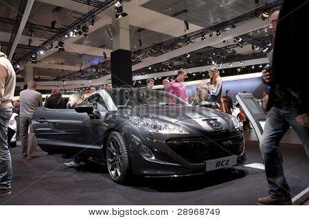 Brussels, Auto Motor Expo Peugeot Rcz