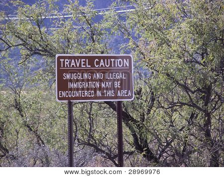 Travel Caution Sign