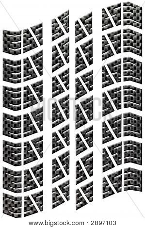 Carbon Tread Isolated