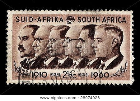 South Africa Postage Stamp Prime Ministers 1910-1960