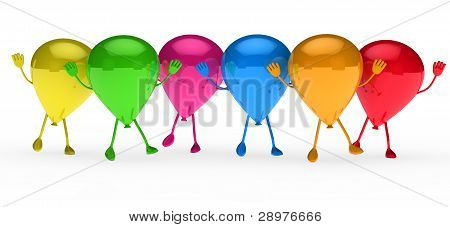 Colorful Balloons Wave